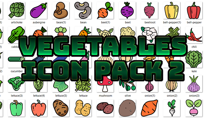 Vegetables Icon Pack 2