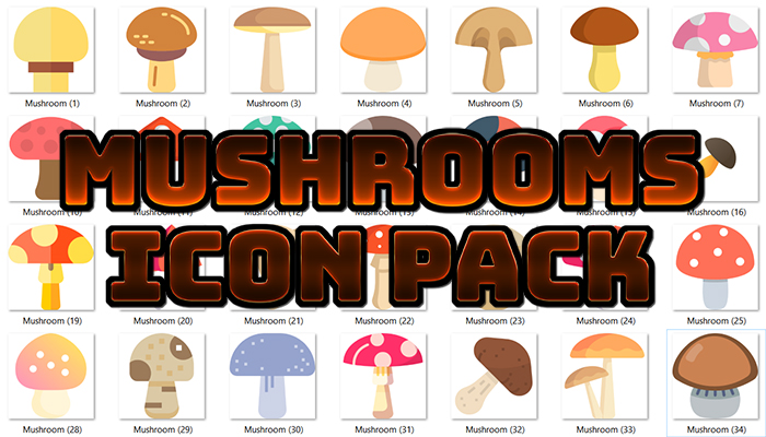 Mushrooms Icons Pack