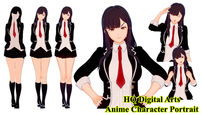SAMPLE ANIME CHARACTER WITH 17 EMOTION