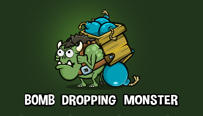 Bomb dropping monster