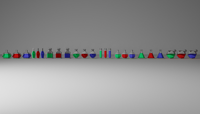 Eight type Potions low poly With 3 variants Health/Mana/stamina OBJ