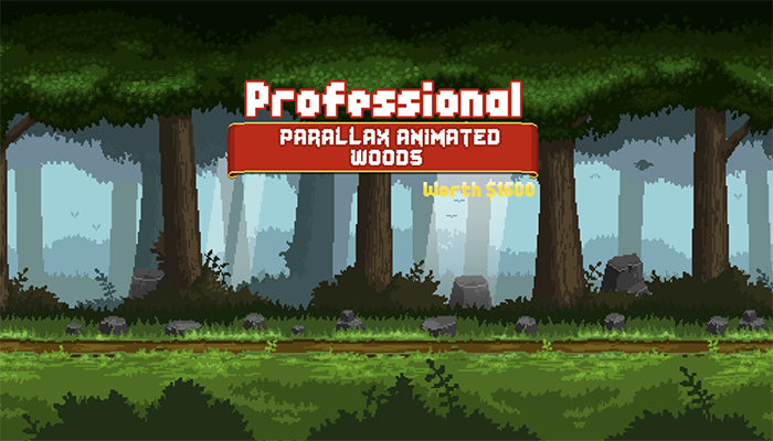 Pixel Art Parallax Woods Pack