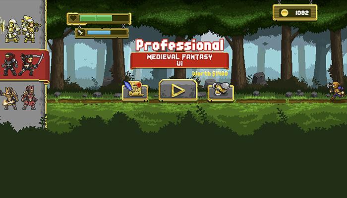Pixel Art Medieval UI Pack