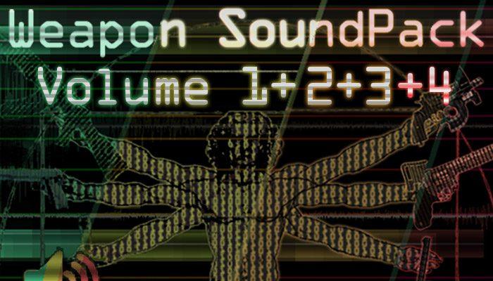 Weapon Sound Pack – Volume 1 + 2 + 3 + 4
