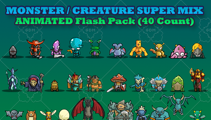MONSTER / CREATURE – SUPER MIX ANIMATED FLASH PACK