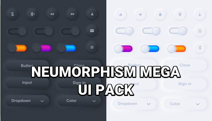 Neumorphism UI pack