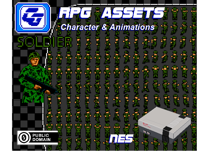 RPG Asset Character 'Soldier' NES