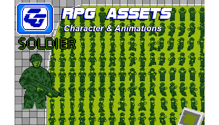 RPG Asset Character 'Soldier' GB