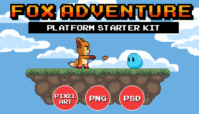 Fox Adventure – Platform Starter Kit