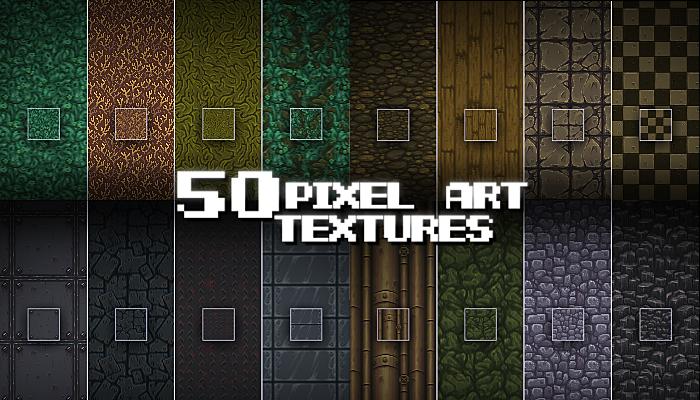 50 Pixel Art Textures
