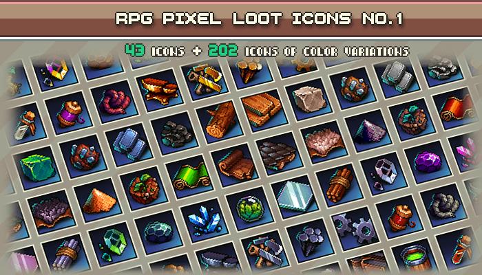 Rpg Pixel Loot Icons #1 32×32