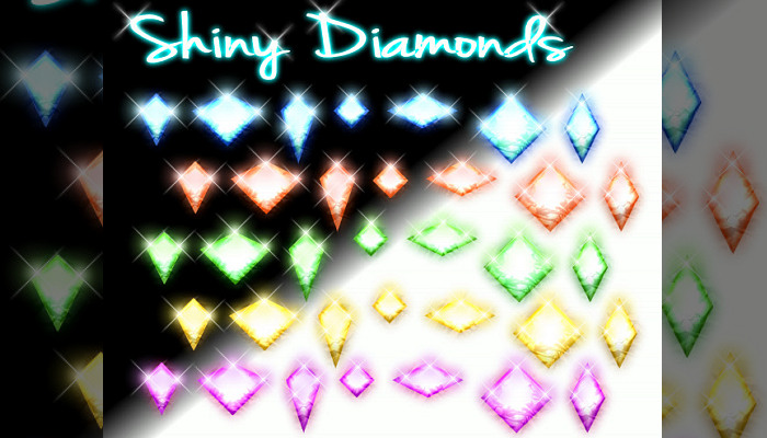 Shiny Real Diamonds and Gems! (PNG & PSD, 550+)