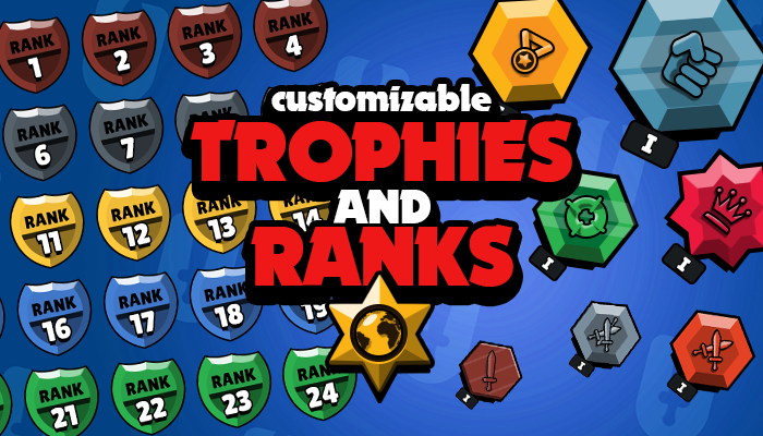 Customizable Trophies and Ranks Asset Pack