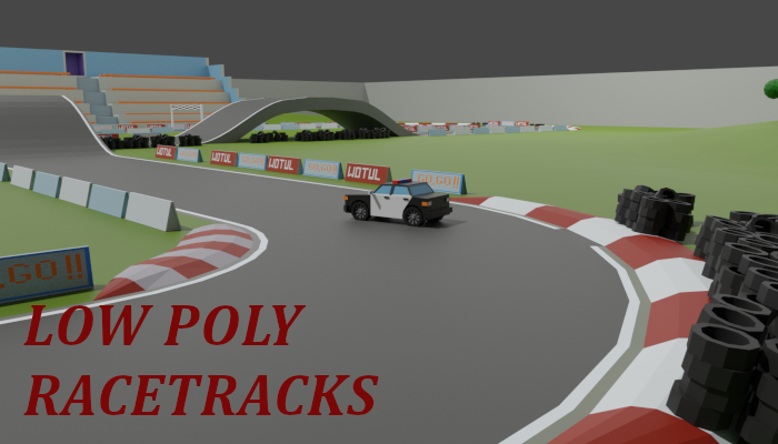 Low poly race tracks