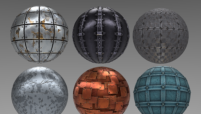 Stylized Metal Materials Vol 01