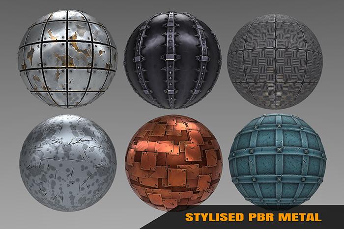 Stylized Metal Materials Vol 01