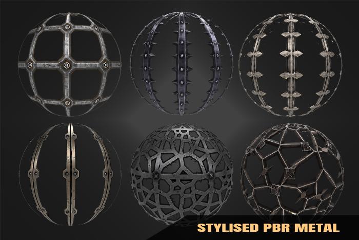 Stylized Metal Materials Vol 02