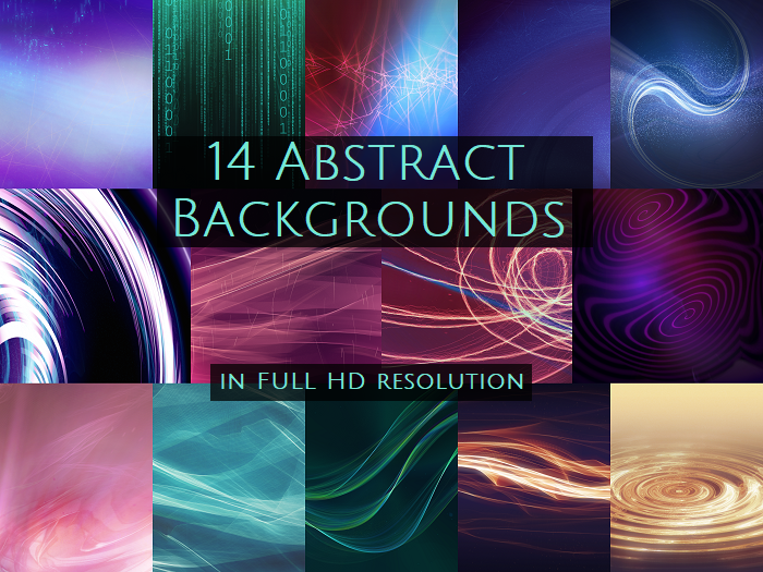 Abstract Backgrounds pack Full HD (14 images)
