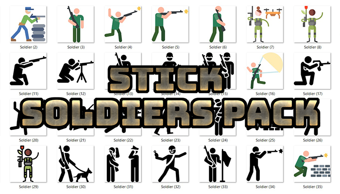 Stick Soldiers Pack