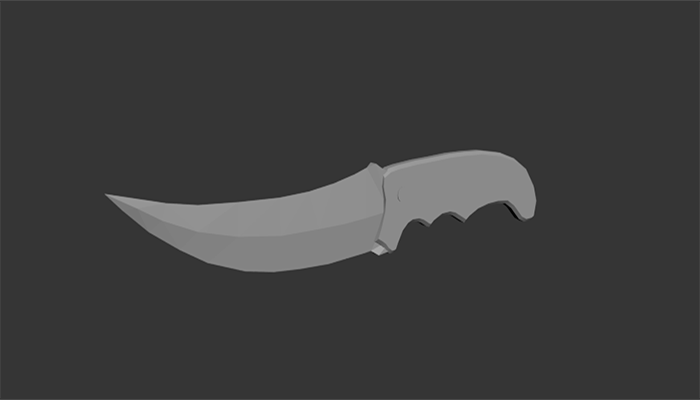 Low poly knife