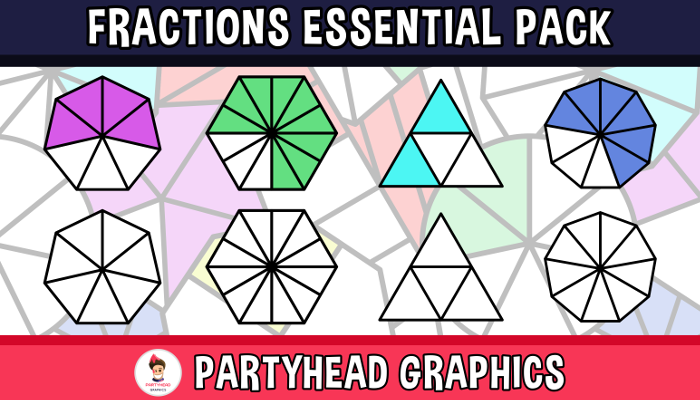 Fractions Essential Pack (Assets For Children´s Games)