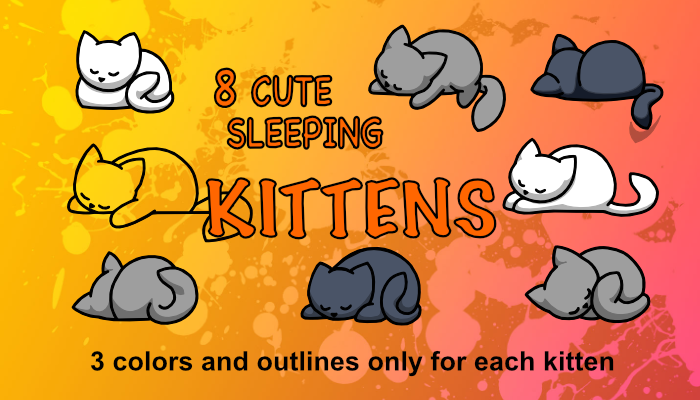 Cute Sleeping Kittens
