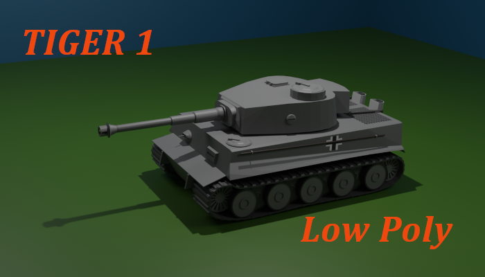 Tiger 1 tank Low Poly