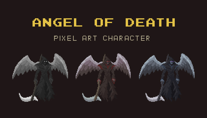Angel of Death Pixel Art Character