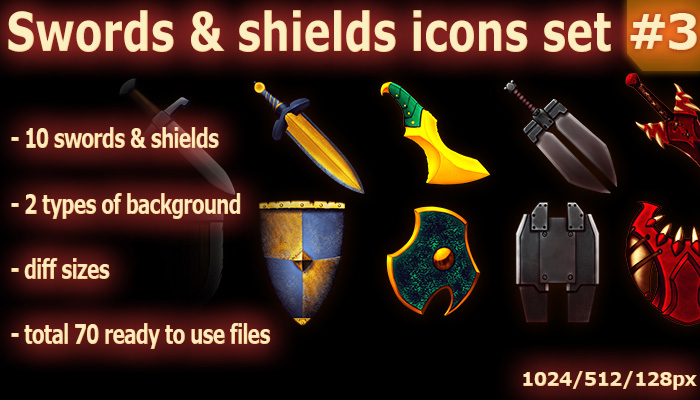 Swords & shields Icons #3