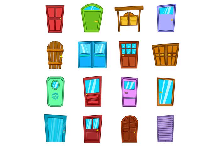 Door icons set