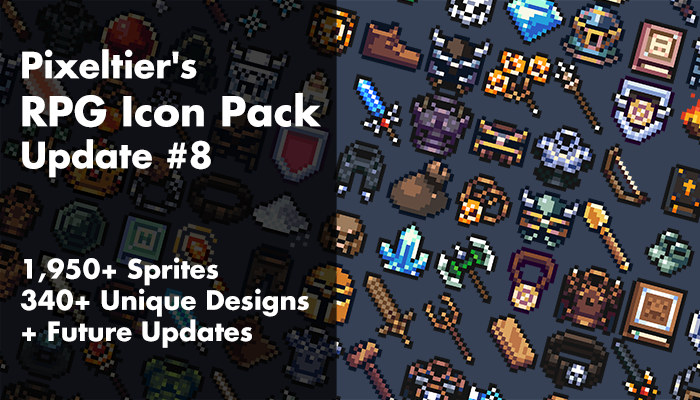 Pixeltier's 16×16 RPG Icon Pack