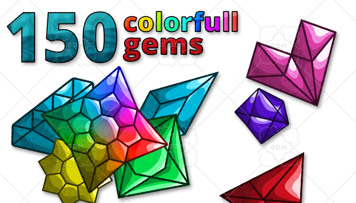 150 colorful gems