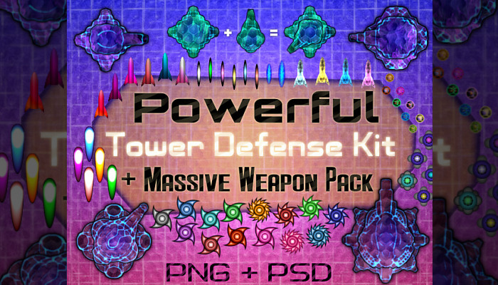 Powerful Tower Defense Kit + Massive Weapon Pack