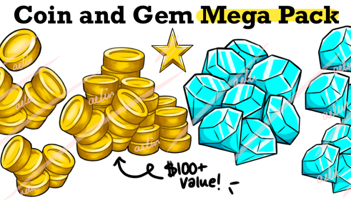 Coin and Gem Icon Mega Pack – 20 Icons