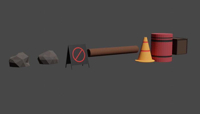 Low Poly Obstacle Set