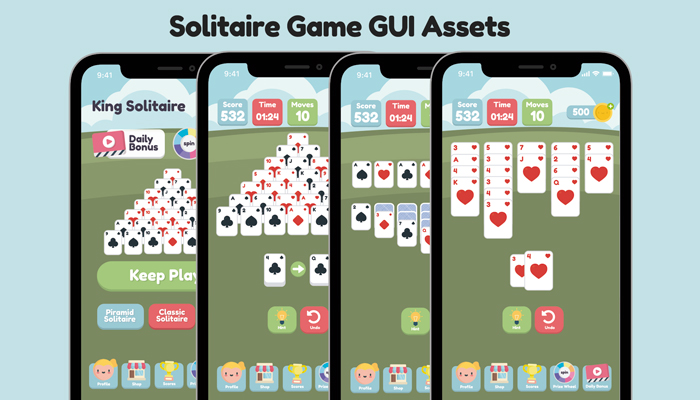 Solitaire Game Gui Assets