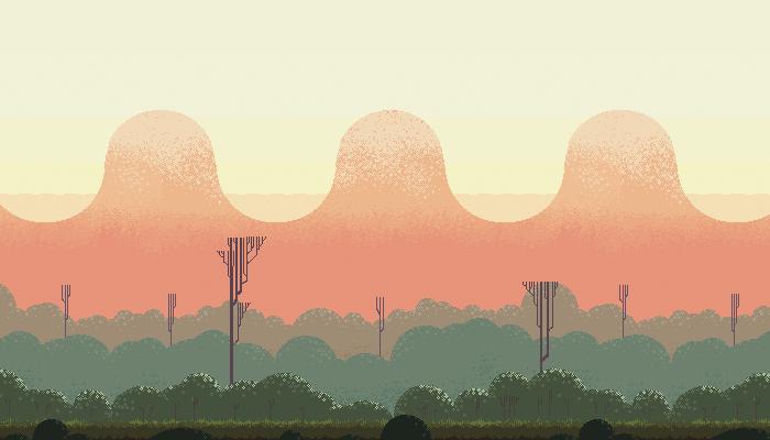 Free pixel Art Hill
