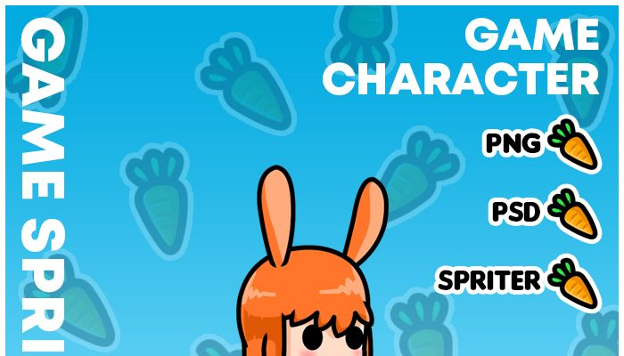 Cute Bunny Girl – Game Character