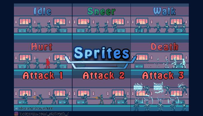 FANTASTIC CHARACTER PIXEL ART GAME SPRITES