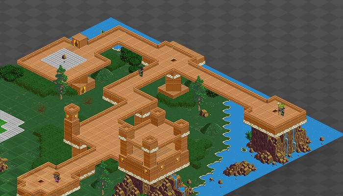 Isometric Wooden Castle Tileset