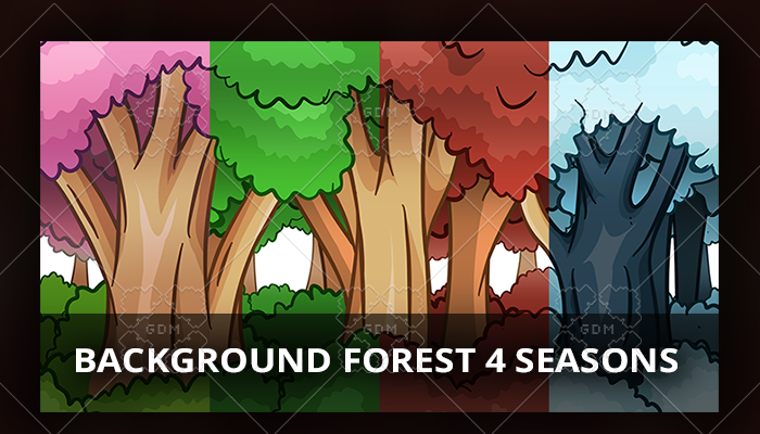 Background Forest 4 Seasons