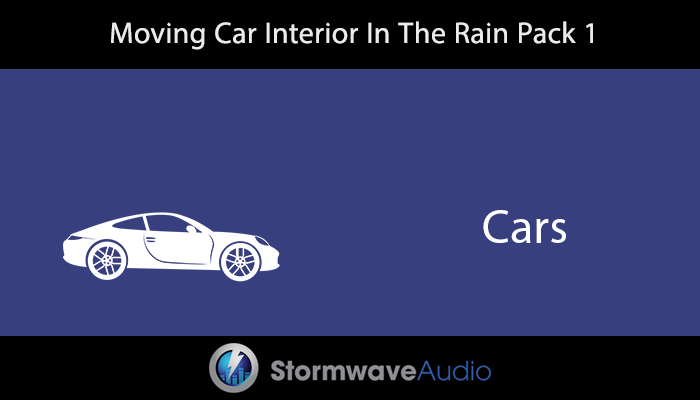 Moving Car Interior In The Rain Pack 1