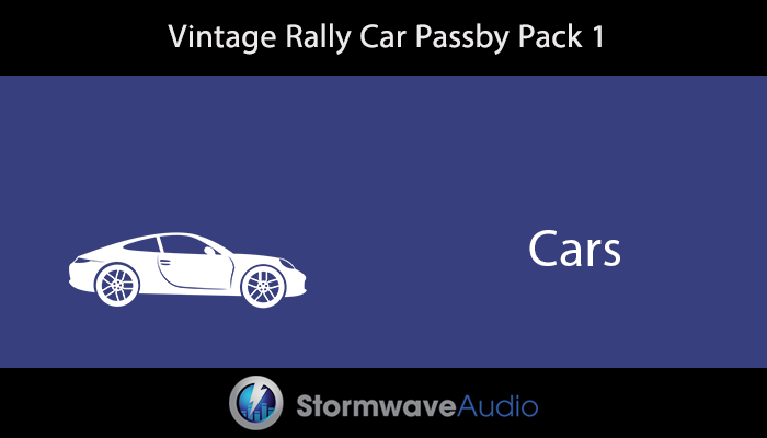 Vintage Rally Car Passby Pack 1
