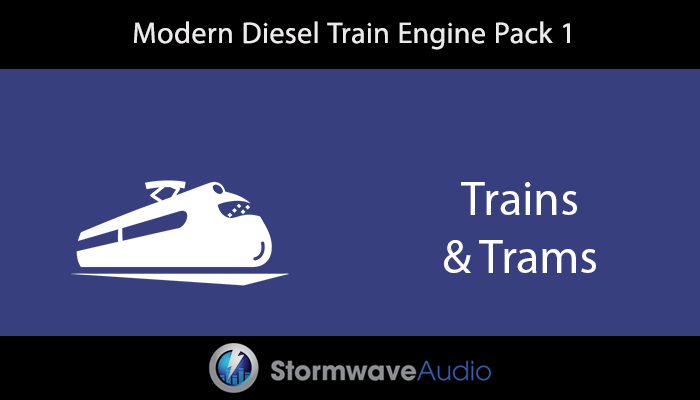 Modern Diesel Train Engine Pack 1