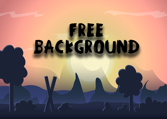 New FREE 2D Forest Game Background