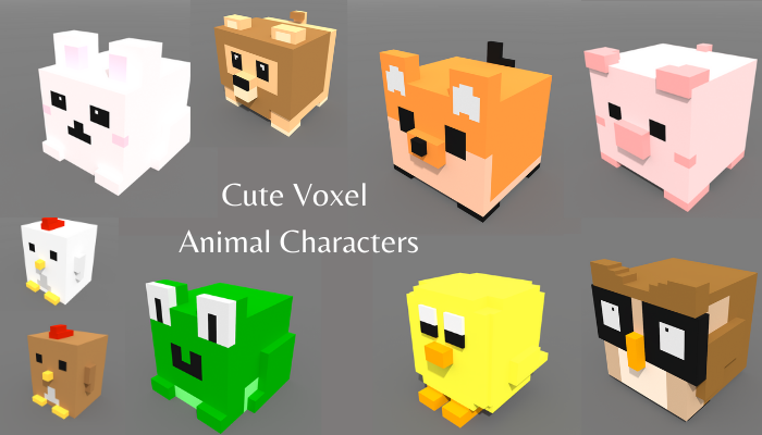 3D Animal Character Voxel