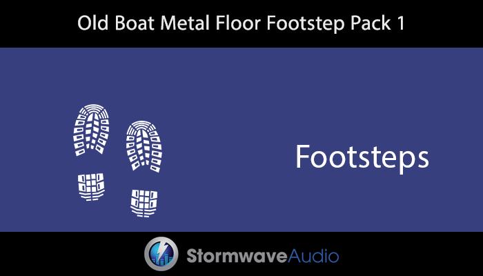 Old Boat Metal Floor Footstep Pack 1