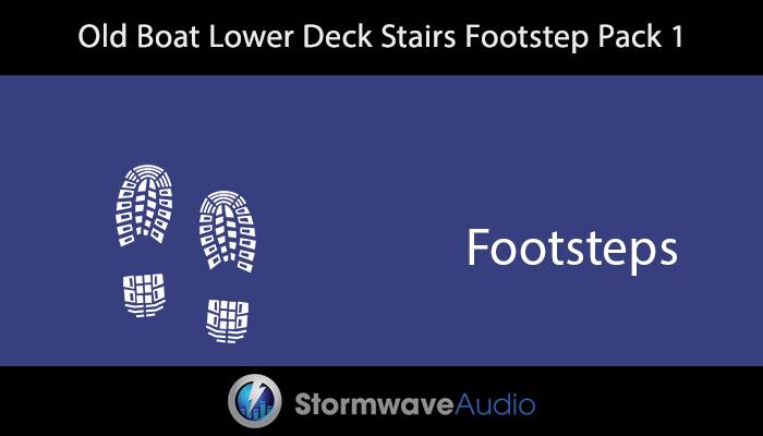 Old Boat Lower Deck Stairs Footstep Pack 1