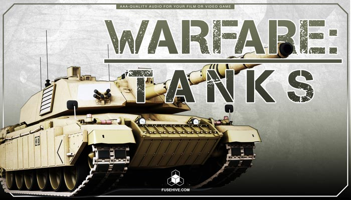 MILITARY TANKS of WARFARE SOUND EFFECTS LIBRARY – Large & Small War Tank Army Land Vehicles Artillery Turrets War Guns Audio MINI PACK