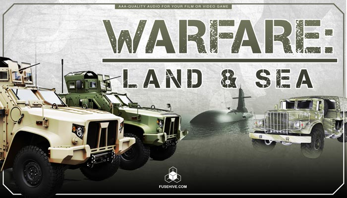Military Jeeps, Trucks, Ships, Submarines Sound Effects Library – Land & Sea Warfare Vehicles MINI PACK